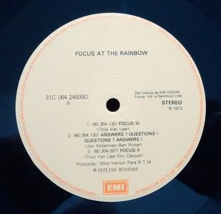Focus - At The Rainbow [LP] - comprar online