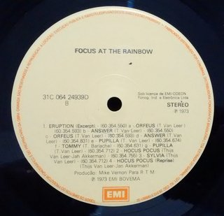 Focus - At The Rainbow [LP] na internet