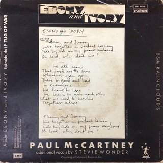 Paul Mccartney - Ebony And Ivory [Compacto] - comprar online