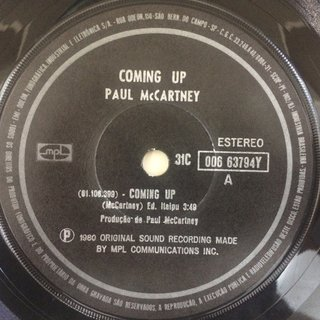 Paul Mccartney - Coming Up [Compacto] na internet