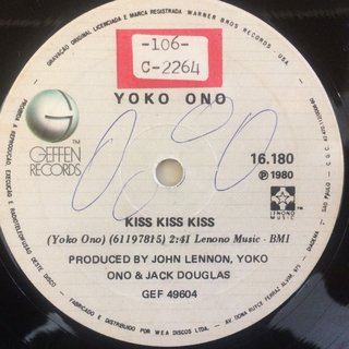 John Lennon E Yoko Ono - (Just Like) Starting Over/Kiss Kiss Kiss [Compacto] - 180 Selo Fonográfico
