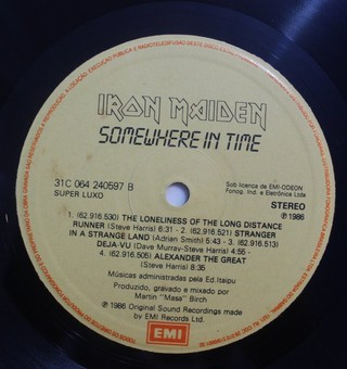 Iron Maiden - Somewhere In Time [LP] - loja online