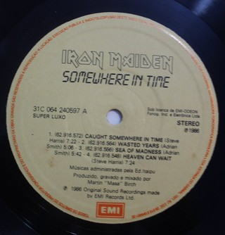 Iron Maiden - Somewhere In Time [LP] - 180 Selo Fonográfico