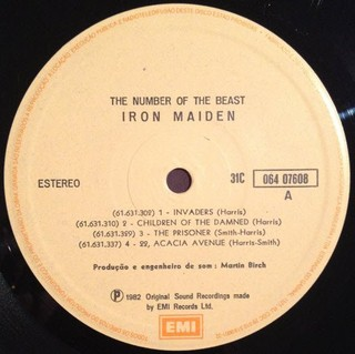 Iron Maiden - The Number Of The Beast [LP] - 180 Selo Fonográfico
