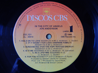 Jon Anderson - In The City Of Angels [LP] - 180 Selo Fonográfico