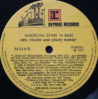 Neil Young - American Stars 'N Bars [LP] - 180 Selo Fonográfico