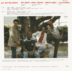 Don Cherry, Dewes Redman, Charlie Haden, Ed Blackwell - Old And New Dreams [LP]