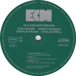 Don Cherry, Dewes Redman, Charlie Haden, Ed Blackwell - Old And New Dreams [LP] - 180 Selo Fonográfico