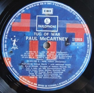 Imagem do Paul McCartney - Tug of War [LP]
