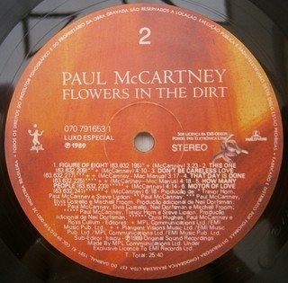 Paul McCartney - Flowers In The Dirt [LP] - 180 Selo Fonográfico
