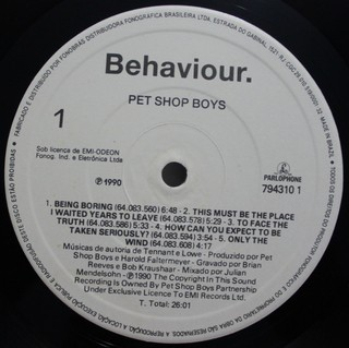 Pet Shop Boys - Behaviour [LP] - loja online