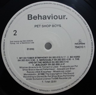 Imagem do Pet Shop Boys - Behaviour [LP]