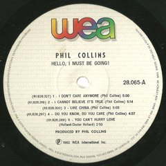 Phil Collins ‎– Hello, I Must Be Going! [LP]