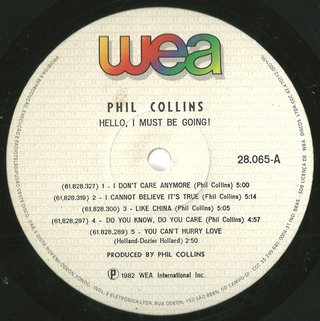 Phil Collins ‎– Hello, I Must Be Going! [LP] na internet