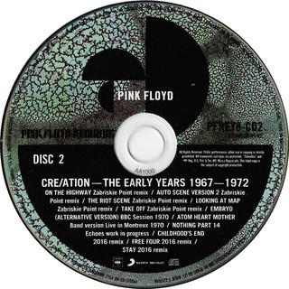Pink Floyd - Cre/Ation - The Early Years (1967-1972) [CD Duplo] - 180 Selo Fonográfico