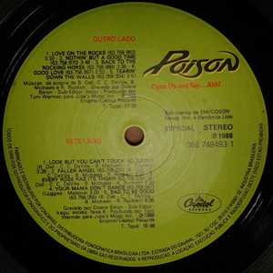 Poison - Open Up And Say...Ahh! [LP]  - 180 Selo Fonográfico