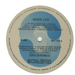 Queen - Live: Rock in Rio 1985 [LP] - 180 Selo Fonográfico