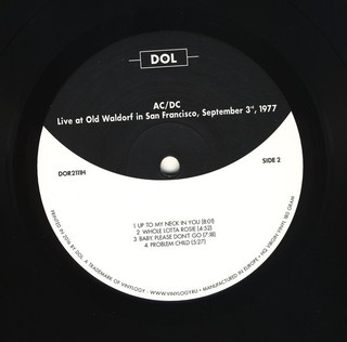 AC/DC - Live At Old Waldorf In San Francisco: September 3th, 1977 [LP] - loja online