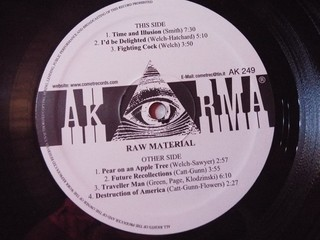 Raw Material - Raw Material [LP] - 180 Selo Fonográfico