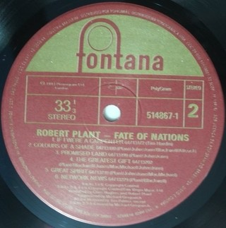Robert Plant - Fate of Nations [LP] - 180 Selo Fonográfico