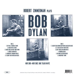 Bob Dylan - Studio Recordings: Nov. 1961 - Nov. 1962 - One Year In New York [LP] na internet