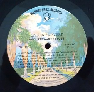 Rod Stewart / Faces - Live Coast To Coast: Overture And Beginners [LP] - 180 Selo Fonográfico