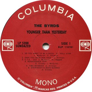 Byrds - Younger Than Yesterday [LP] - 180 Selo Fonográfico
