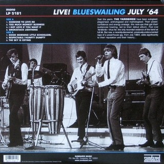 Yardbirds - Live! Blueswailing July '64 [LP] - 180 Selo Fonográfico