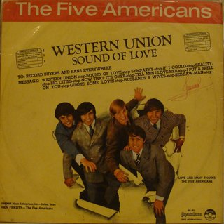 Five Americans ‎– Western Union Sound Of Love [LP]