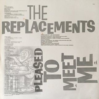 The Replacements ‎– Pleased to Meet Me [LP] - 180 Selo Fonográfico
