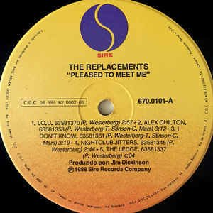 The Replacements ‎– Pleased to Meet Me [LP] - loja online