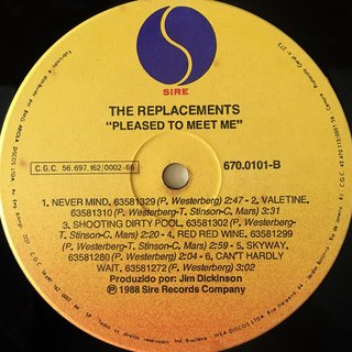 Imagem do The Replacements ‎– Pleased to Meet Me [LP]