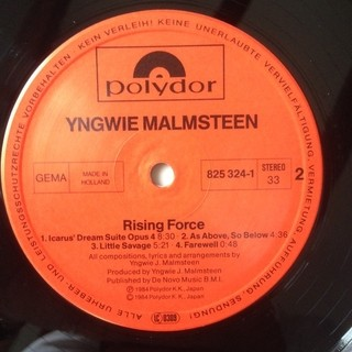 Yngwie J. Malmsteen´s Rising Force - Rising Force [LP]  - 180 Selo Fonográfico