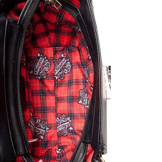 Bolsa Feminina Com Lapela Mondaine : Bolsa pequena feminina mondaine  cor preta