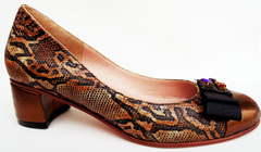 Zapatos Reptil & Bronce 36