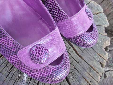 Purple Kelly Pumps - tienda online