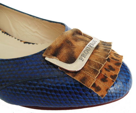 blue reptile leather handmade flat shoes flats sole heel comfortable