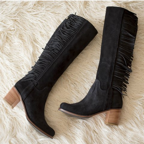 Botas MILOS Flecos Black - Frou Frou | Shoes | Zapatos | Bags | Carteras