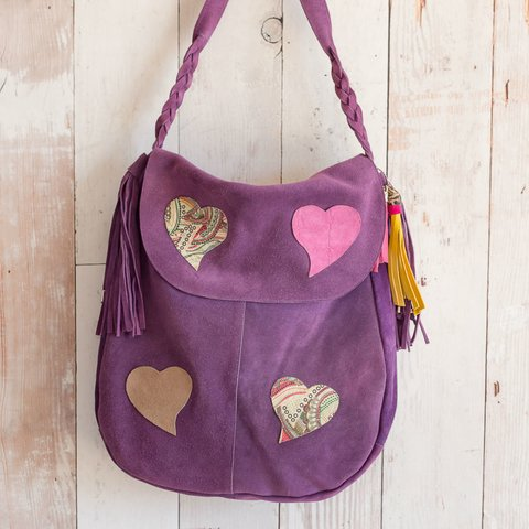 Purple Handbag Hearts