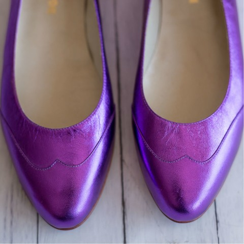 Chatitas Cristal Violeta Metal - Frou Frou | Shoes | Zapatos | Bags | Carteras