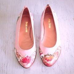 Chatitas Flores Rosa - Frou Frou Shoes