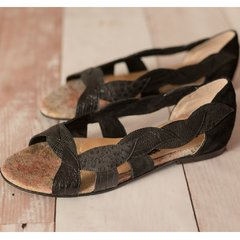 Hojitas Negro - Frou Frou Shoes