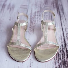 Gold Sandals - Frou Frou Shoes