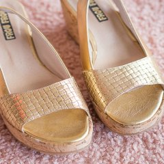 Petra Gold Sandals ♥ Summer - Numero 38 - Frou Frou | Shoes | Zapatos | Bags | Carteras