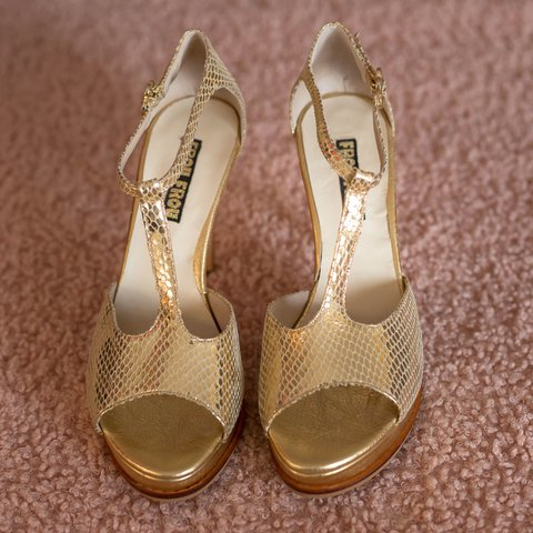 Sandals Barbora Gold Reptile