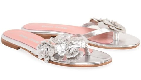 Sandalias Silver Flowers on internet