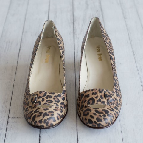 Animal Print Kelly Pumps 39
