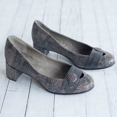 Zapatos Kelly Reptil Gris
