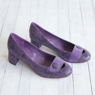 Purple Kelly Pumps