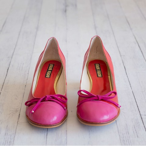 Zapatos Nicole - Pink+Red - Ultimo 38